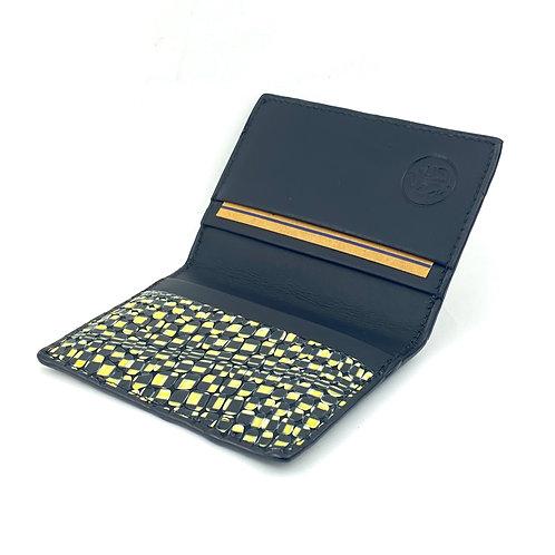 Porta Tarjetas Bifold (Amarillo Figura)