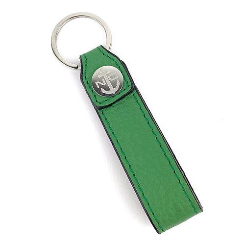 Llavero Piel ( Verde Granulado )