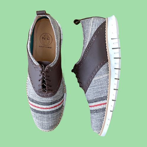 Zapato Oxford Gris Rayas