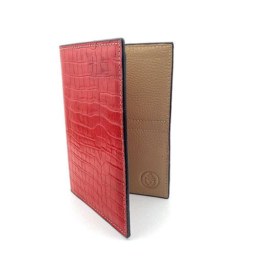Porta Pasaporte LUX (Rojo Cuadros)