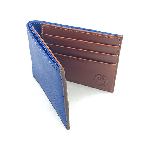 Billetera Clasica Azul-Marron