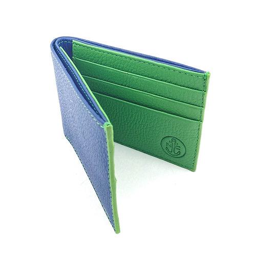 Billetera Clasica Azul-Verde