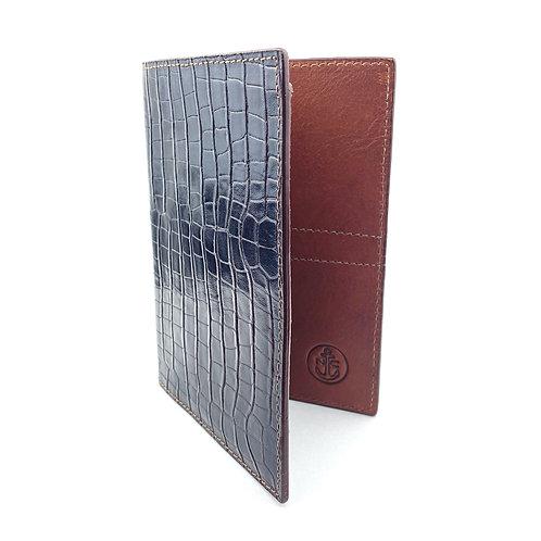 Porta Pasaporte LUX (Marron Cuadros)