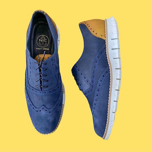 Zapato Oxford Azul-Camel