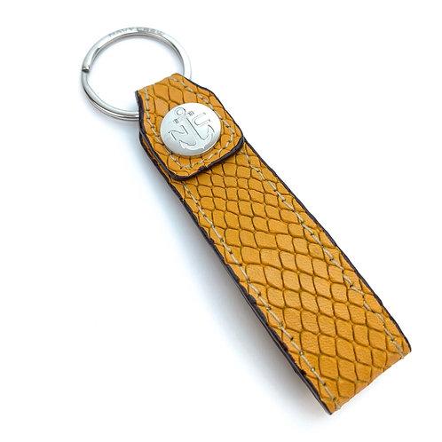 Llavero Piel ( Amarillo Reptil )