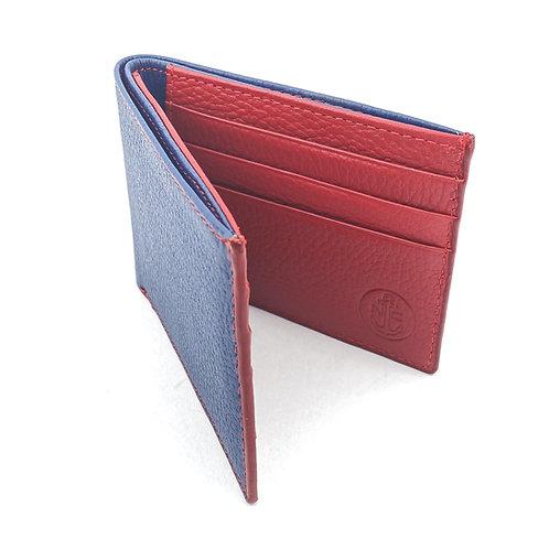 Billetera Clasica Azul-Rojo