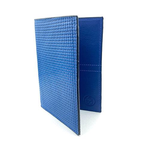 Porta Pasaporte LUX (Azul Tramado)
