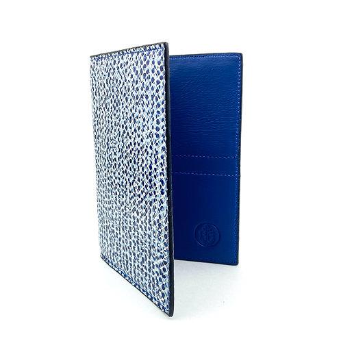 Porta Pasaporte LUX (Escamas Azul)