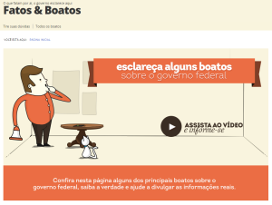Fatos & Boatos: seu novo espaço de informação – governamental (?)