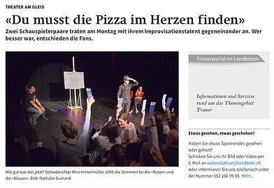 Improtheater Show, Impro, Improvisationstheater,  Improvisation, Auftritt, Theater am  Gleis
