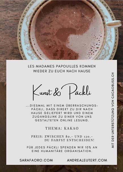 Improduo, Lesung, Schauspielduo,  Les Madames Papouilles, Kunst&Päckli