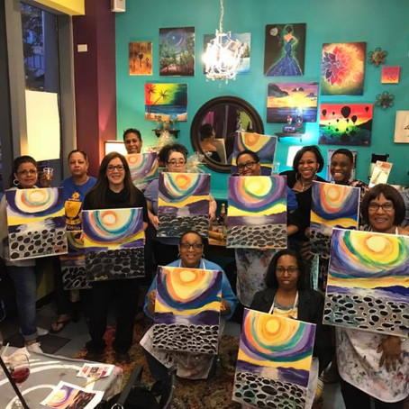 Chicago Chapter Paints Together