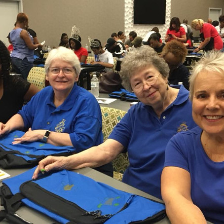 Jacksonville Chapter helps complete community project for NAAWLI!