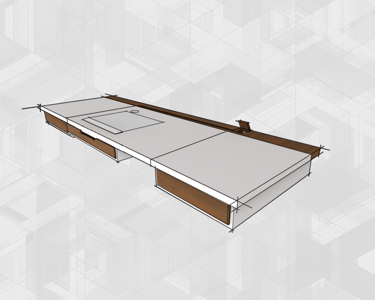 Desk variant - white