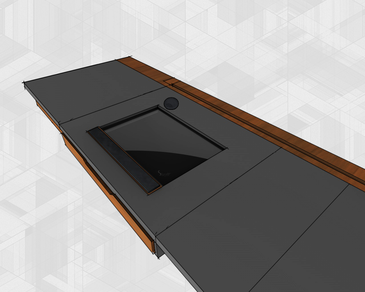 Glass backlit drawing table