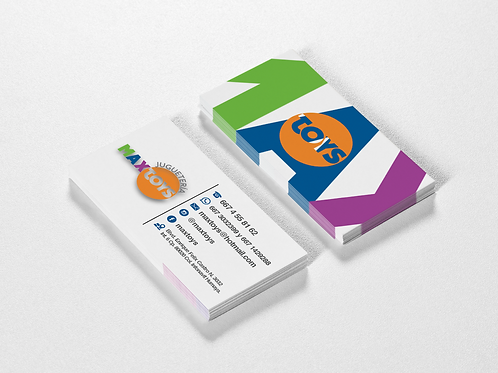 1000 tarjetas de presentación impresión ambos lados