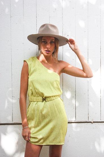 Vestido amarillo de una manga