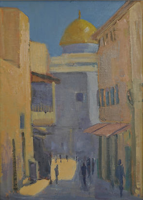 20. Street in the Arab Quarter. Oil 10 x