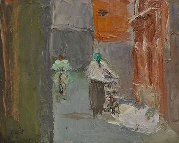 In the Suk. Oil 20 x 25 cm