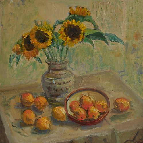 Sunflowers and Apricots