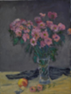 Chrysanthemums. Oil. 61 x 46 cms.JPG