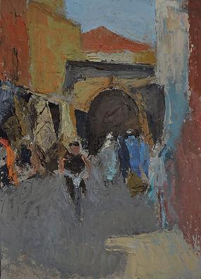 14. _Suk, Marrakech. 35 x 25 cms oil..JP