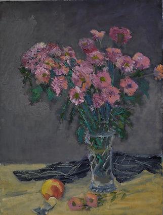 Chrysanthemums Oil 61 x 46 cm