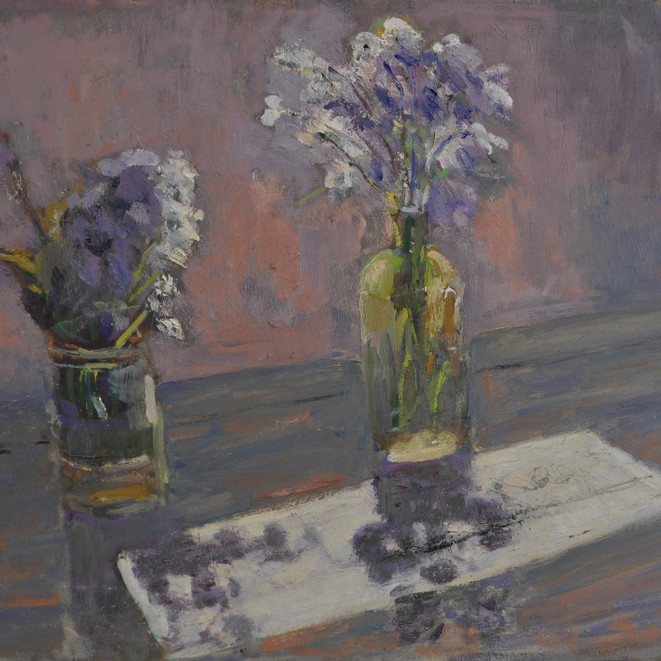 Shadows and two bouquets