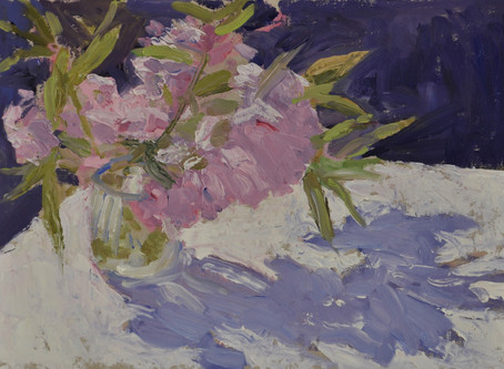 """""""COVID PAINTINGS"""": SHADOWS AND FLOWERS, March-June 2020"""