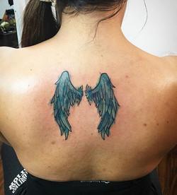 #tattooideas #ladyluckat608 #ladytattooer #feelinglucky #art #angelwings