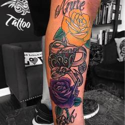 #roses #heart #key #rosetattoo #lovetattoos #otherguy #bdts #beardeddragontattoostudionj #newjerseyt