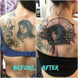 #reworking #inprogres #nativeamerican #ladytattooer #ladyluckat608 #feelinglucky #femaletattooartist