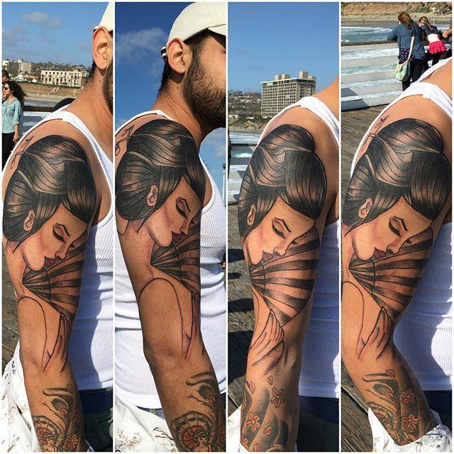 #geisha #geishatattoo #californiaflow #sunlight #sunlightbestlight #tattoo #tattooideas #custom #fre
