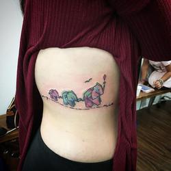 #family #goodvibesonly #feelinglucky #BDTS #ladytattooer #ladyluckat608 #watercolor #elephanttattoo