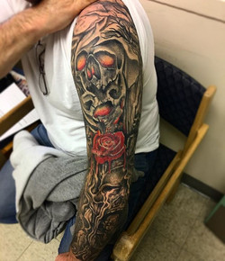 Healed Sleeve by  #aventuna did last year , on his buddy from the #military #supporttattooedmilitary