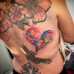 #watercolortattoo #hearttattoo #watercolorheart #colorexplosion #tattooideas #ladytattooer openings