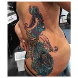 #peacock #polynesian #patterns #tribal #bird #tattoo #tattoos #tattooideas #bdts #beardeddragontatto