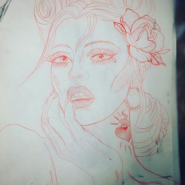 Just a thought 😏 #tattooideas #ladytattooer #ladyluck608 #tattooart