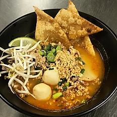Pork Tom Yum Noodles Soup