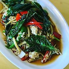 Pad Ga Prow Crab Meat