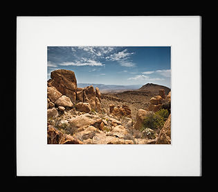 8 x 10 matted and framed photograph