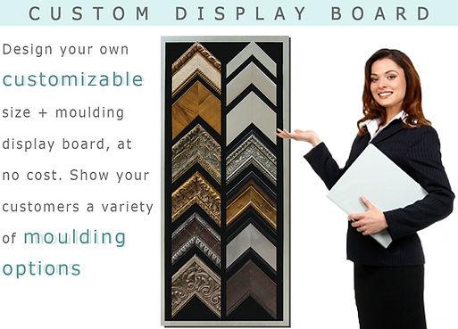frame moulding display board