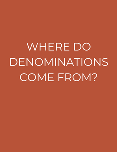 """There were no denominations among the original disciples. They all had One King - Jesus. •After the Roman Catholic Church Corrupted Christianity and continued to massacre true Believers, God sent many men to restore particular truths that were stolen. (Luther, Tyndale, Knox, Wesley, Seymour, etc…) •Unfortunately, certain practices of the Roman Catholic beast system were still left over. So these Reformational messages were turned into denominations •This is where denominations come from: Leftovers of the """"Control"""" """"Conquer the People"""" and """"Lord over"""" system from Roman Catholicism. •Jesus' Kingdom Ordinances that He taught the Apostles bring order and fruitfulness to congregations without the need for denominations."""