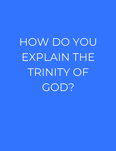 Trinity is another word for Elohim, or Godhead. The Creator has always been one and plural at the same time. Look at yourself. You have a physical body, but you also have a mind and heart (soul) that goes beyond physical things. You also have a spirit inside that makes you eternal and different from animals (who have physical bodies, as well as minds and hearts). You are made in the image of GOD (Gen 1). Just like you have a Body, Soul, and Spirit, connected into ONE person, God is the Father, Son, and Holy Spirit.