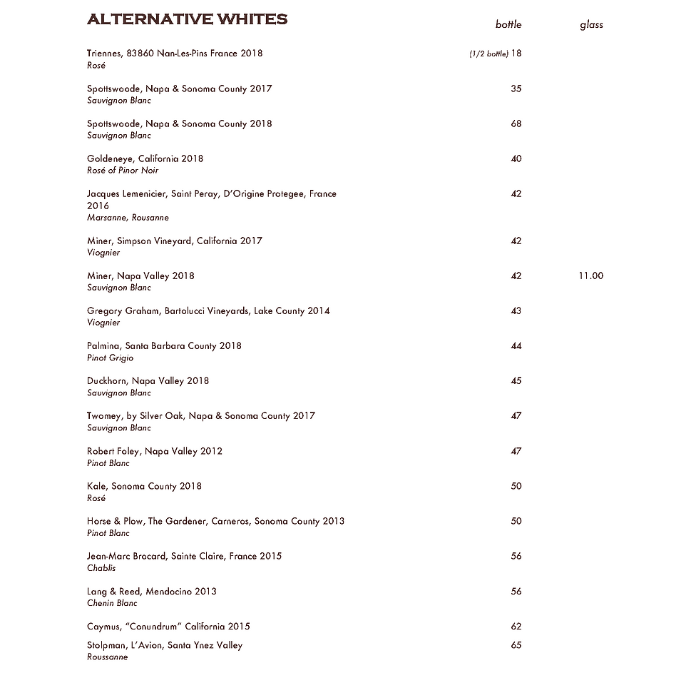 HAPS - Wine List MAY 2020 - Spaced for W