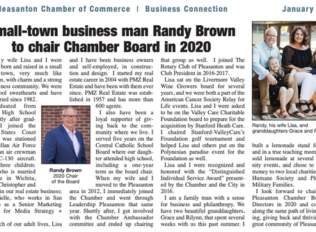 Small-town business man Randy Brown to chair Chamber Board in 2020
