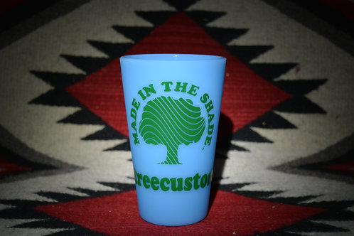 Glow in the dark silicone pint glass