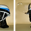Thumbnail: ヘルメットに着脱できる開閉型フェイスシールド