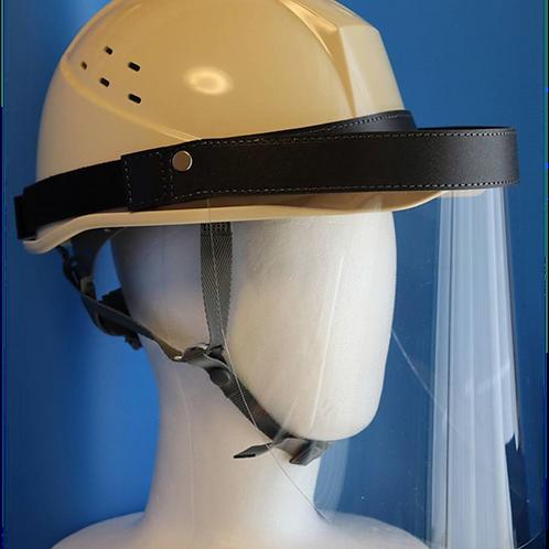 ヘルメットに着脱できる開閉型フェイスシールド
