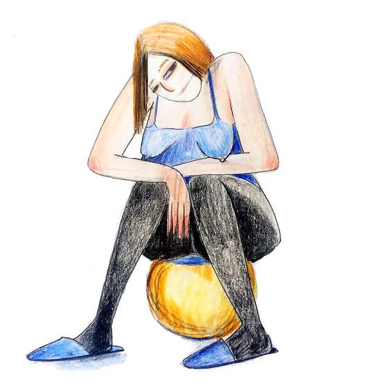 женщина на шаре